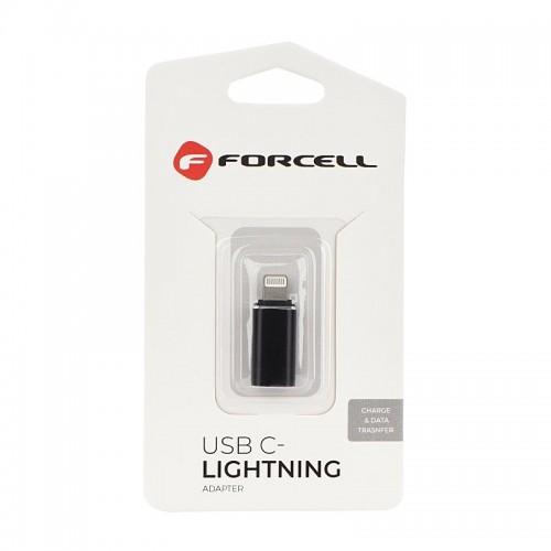 Αντάπτορας Forcell Type C to Lightning (Μαύρο)