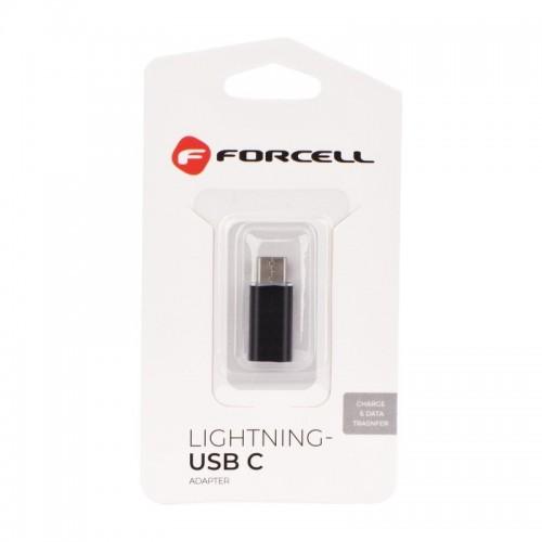 Αντάπτορας Forcell Lightning to Type C (Μαύρο)