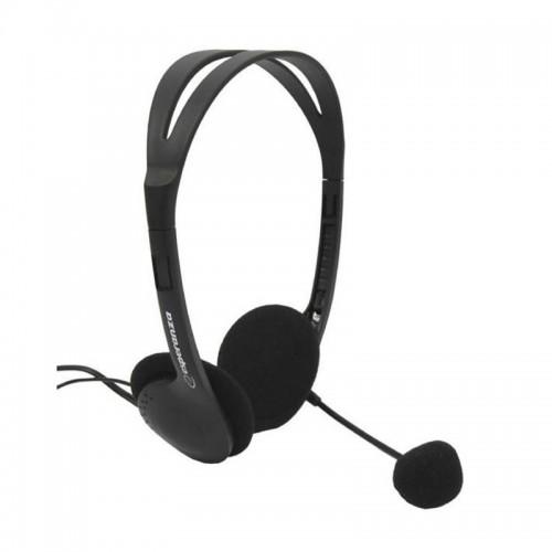 Ακουστικά Headset με Μικρόφωνο Esperanza EH102 (Μαύρο)