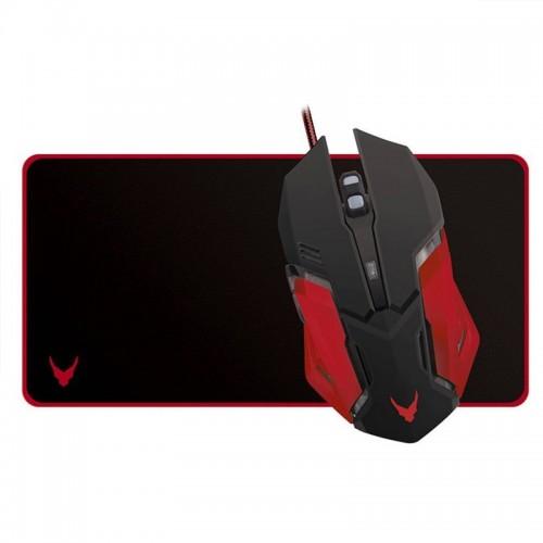 Gaming Ποντίκι Omega Varr με Mousepad VSETMPX2 (Μαύρο - Κόκκινο)