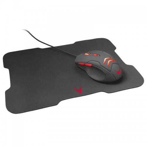 Gaming Ποντίκι Omega Varr με Mousepad VSETMPX4 (Μαύρο - Κόκκινο)