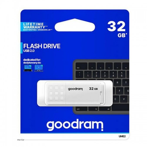 Flash Drive Goodram UME2 32GB USB 2.0 (Άσπρο)