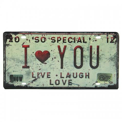 Μεταλλική Διακοσμητική Πινακίδα Τοίχου So Special Love 15X30