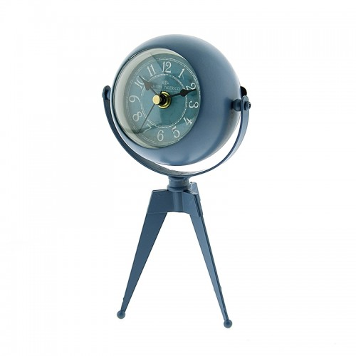 Μεταλλικό Επιτραπέζιο Διακοσμητικό Ρολόι με Καθρέφτη (Μπλε)