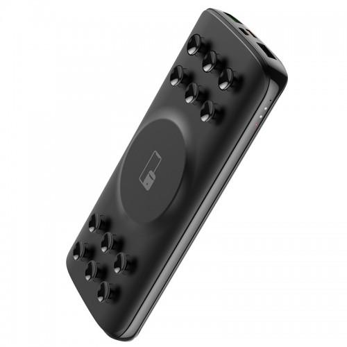 Power Bank Hoco J56 με Ασύρματη Φόρτιση Sea Power 10000mAh 2xUSB + USB Type C PD QC 3.0 (Μαύρο)
