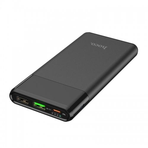 Power Bank Hoco J58 Cosmo 10000mAh 2xUSB + USB Type C PD QC 3.0 Fast Charging (Μαύρο)