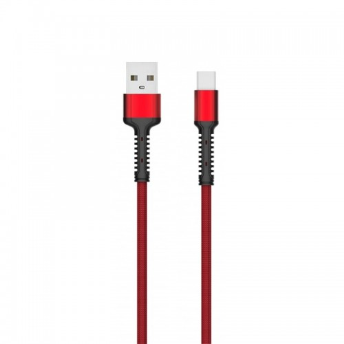 Καλώδιο Φόρτισης LDNIO LS63-5A Type C to USB 1m (Κόκκινο)