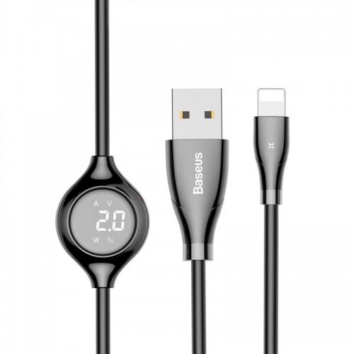 Καλώδιο Baseus Big Eye Digital Display CALEYE-01 Usb To Lightning 1.2M (Μαύρο)