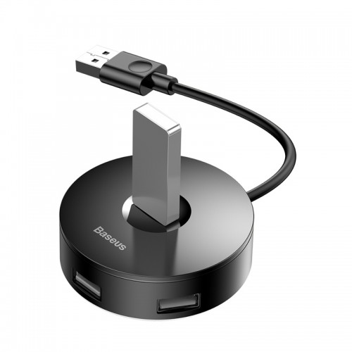 Baseus USB Hub Adapter Round Box 4xUSB to Type C CAHUB-F01 (Μαύρο)