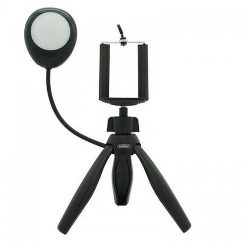 Selfie Mini Τρίποδο με Φλας ET-ZP15 (Μαύρο)