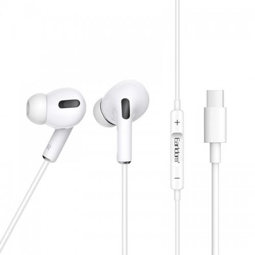 Ακουστικά Type-C Earldom ET-E32 (Άσπρο)