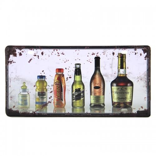 Μεταλλική Διακοσμητική Πινακίδα Τοίχου Hennessy 15X30