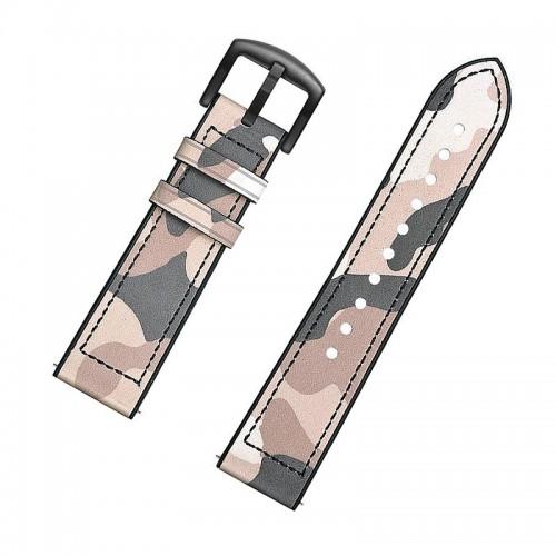 Ανταλλακτικό Λουράκι OEM Δερμάτινο Παραλλαγής με Nato Strap για Samsung Gear S3 22mm (Μπεζ)