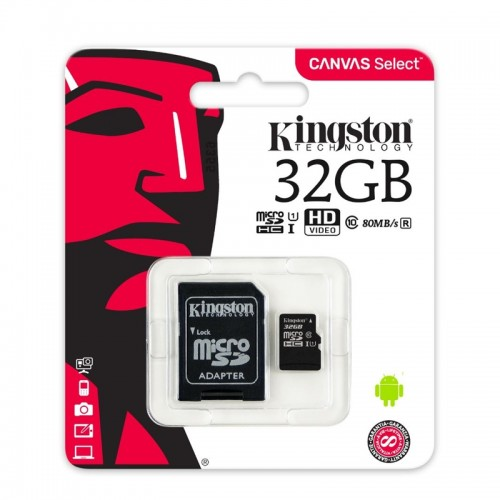 Kingston 32GB MicroSDHC Class 10 (Διαφανές)