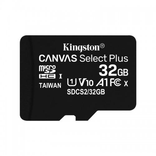 Kingston Canvas Select Plus microSDHC 32GB Class 10 UHS-I (Μαύρο)