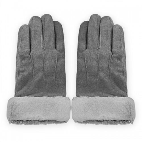 Γάντια για Οθόνες Αφής με Γουνάκι (Γκρι)