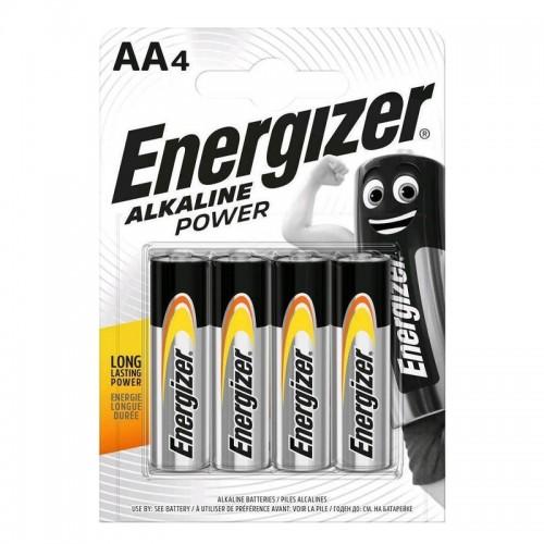 Μπαταρίες Energizer Alkaline Power AA LR6 (4τμχ) (Ασημί)