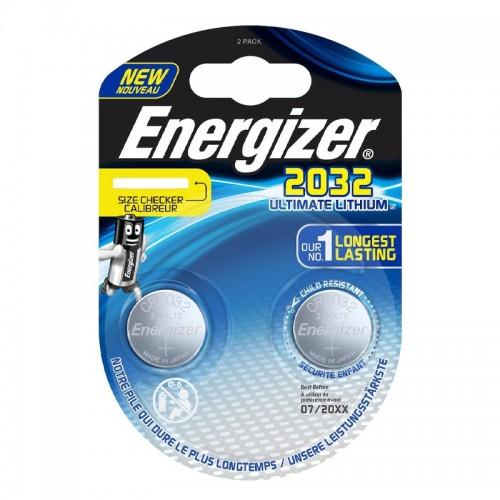 Μπαταρίες Energizer 2032 Ultimate Lithium 3V (2τμχ) (Ασημί)
