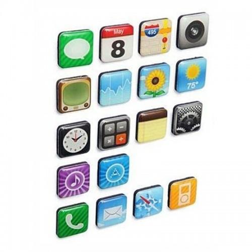 Μαγνητάκια με σχέδια menu iPhone σετ 18 τεμάχια (Design)