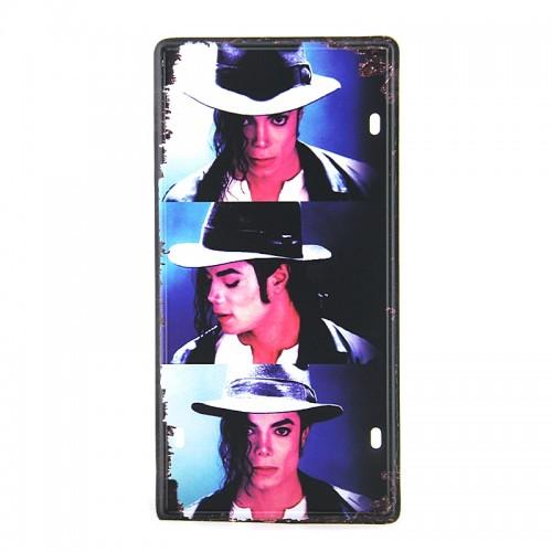 Μεταλλική Διακοσμητική Πινακίδα Τοίχου Michael Jackson Poses 15X30 (Design)