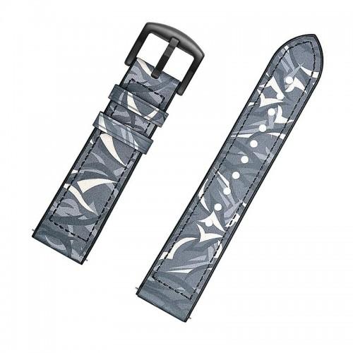 Ανταλλακτικό Λουράκι OEM Δερμάτινο Παραλλαγής με Nato Strap για Samsung Gear S3 22mm (Σκούρο Μπλε)