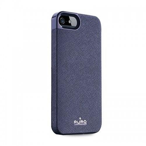 Θήκη Puro Eco-leather Flip Cover για iPhone 5/5s (Σκούρο Μπλε)