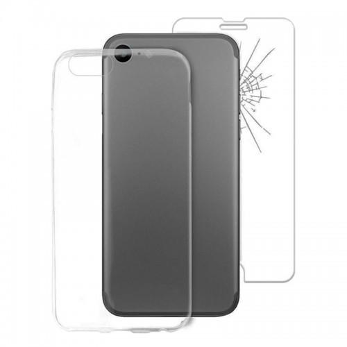 Σετ Θήκη Puro 0.3mm Nude Back Cover και Tempered Glass για iPhone 7/8 (Διαφανές)