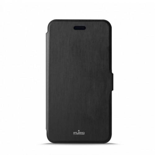 Θήκη Puro Wallet Eco-Leather Flip Cover για Huawei Y6 (Μαύρο)