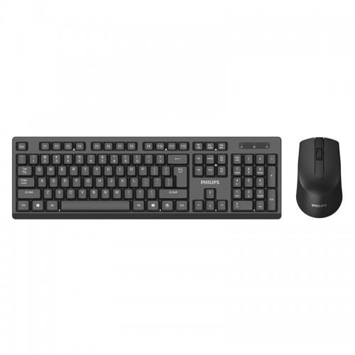 Σετ Πληκτρολόγιο και Ποντίκι Philips C354 (Μαύρο)