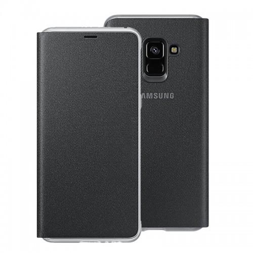 Θήκη Samsung Neon Flip Cover για Samsung Galaxy A8 2018 (Μαύρο)