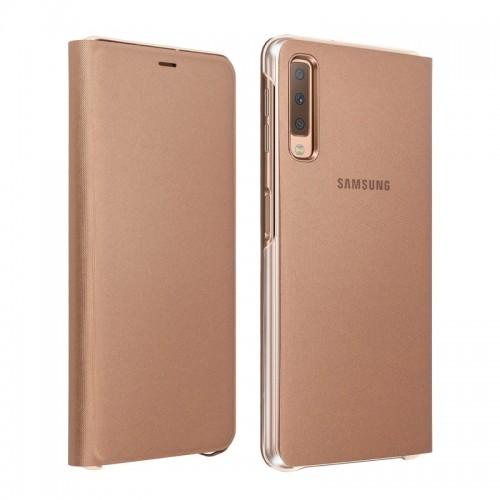 Θήκη Samsung Wallet Cover Samsung Galaxy A7 2018 (Χρυσό)