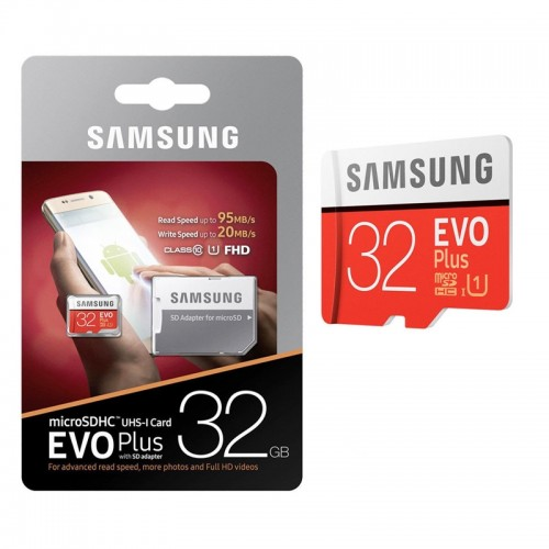 Samsung Evo Plus microSDHC UHS-I 32GB with Adapter (MB-MC32GA/EU) (Κάμελ)
