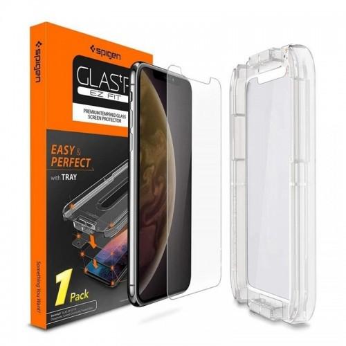 Tempered Glass Spigen Ez Fit για iPhone XR (Διαφανές)