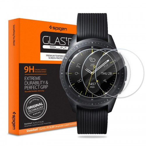 Tempered Glass Spigen για Samsung Galaxy Watch 42mm (Διαφανές)