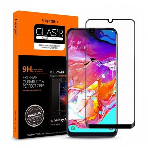 Tempered Glass Spigen Full Cover για Samsung Galaxy A70 (Black)