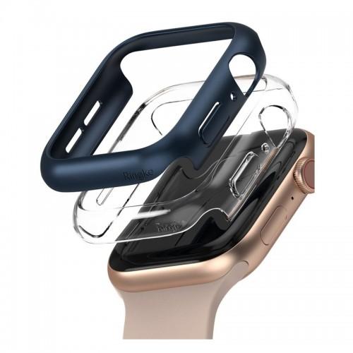 Θήκη Ringke Slim Case 2-Pack για Apple Watch SE/6/5/4 44mm (Μπλε-Διαφανές)
