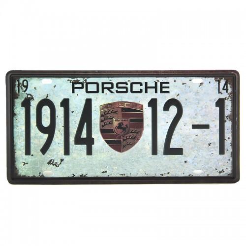 Μεταλλική Διακοσμητική Πινακίδα Τοίχου Porsche 1914 15X30