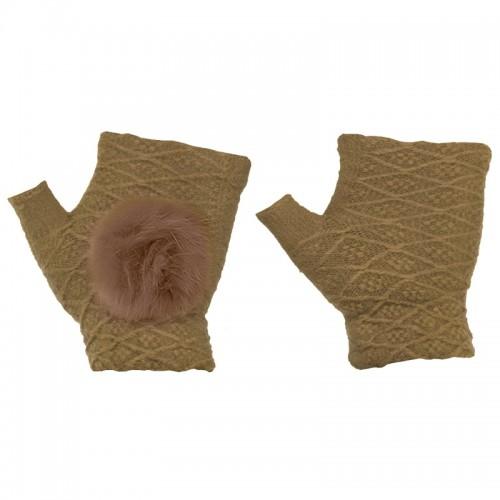 Γάντια για Οθόνες Αφής 2 in 1 (Καφέ)