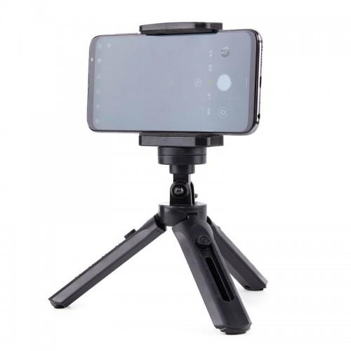 Mini Τρίποδο & Selfie Stick OEM για Smartphone & GoPro (Μαύρο)