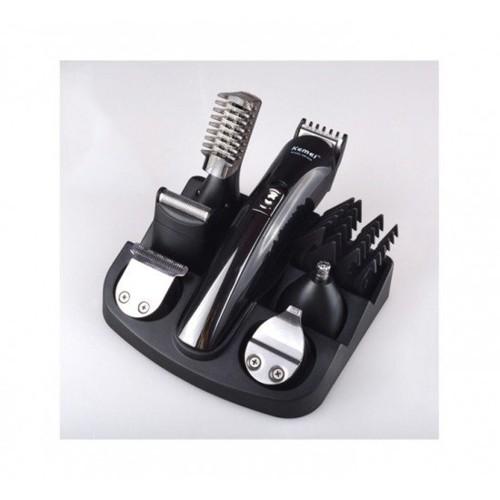 Σετ Ανδρικής Περιποίησης - Ξυριστική Κουρευτική Μηχανή Kemei KM-600 (Μαύρο)