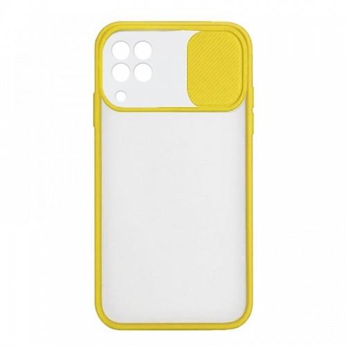 Θήκη Lens Back Cover για Samsung Galaxy A22 4G (Κίτρινο)