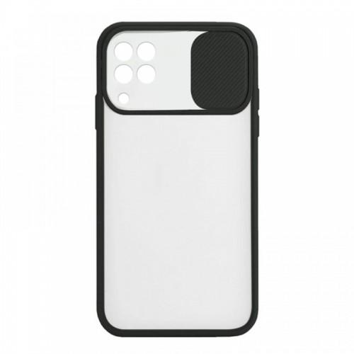 Θήκη Lens Back Cover για Samsung Galaxy A22 4G (Μαύρο)