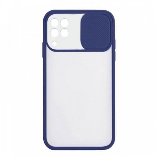 Θήκη Lens Back Cover για Samsung Galaxy A22 4G (Σκούρο Μπλε)