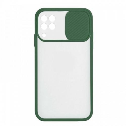 Θήκη Lens Back Cover για Samsung Galaxy A22 4G (Σκούρο Πράσινο)