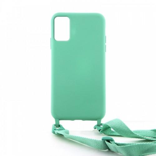 Θήκη OEM Σιλικόνης Matte Back Cover με Λουράκι για Samsung Galaxy A71 (Patina)
