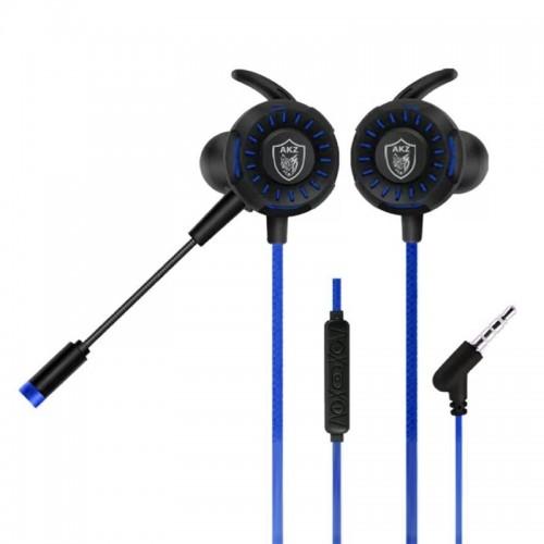 Gaming Ενσύρματο Headset AKZ GM-D1 με Μικρόφωνο (Μαύρο-Μπλε)