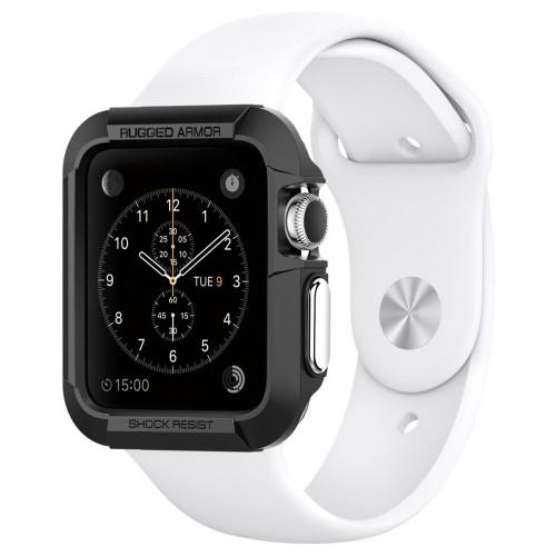 Θήκη Spigen Rugged Armor Black για Apple Watch 38mm 1/2 series (Black)