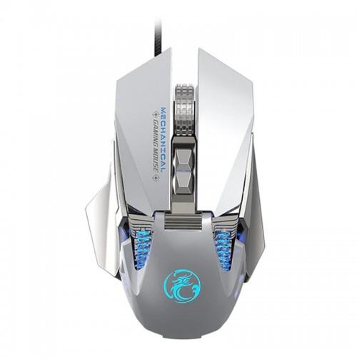 Gaming Ενσύρματο Μηχανικό RGB Ποντίκι iMice Τ96 (Ασημί)