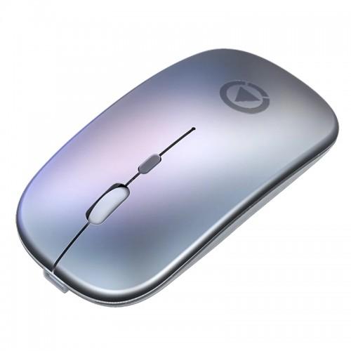 Ασύρματο Ποντίκι Yindiao A2 με LED Φωτισμό (Charging Version) (Ασημί)