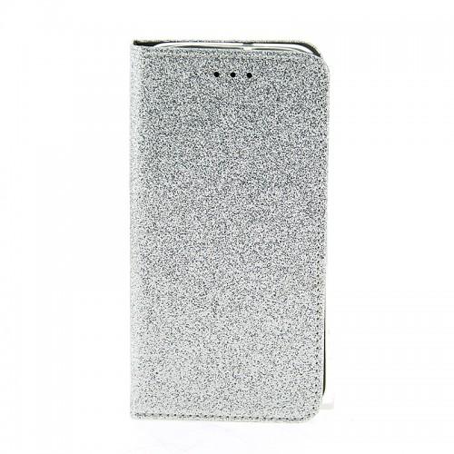 Θήκη OEM Shining Flip Cover για Samsung Galaxy A50 (Ασημί)